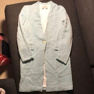 Light Blue Long Coat - Zara (Size S)